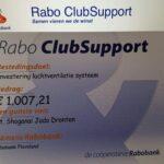 De geweldige steun van Rabo ClubSupport en DEEN Supermarkt